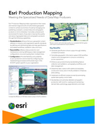 Esri Production Mapping Flyer