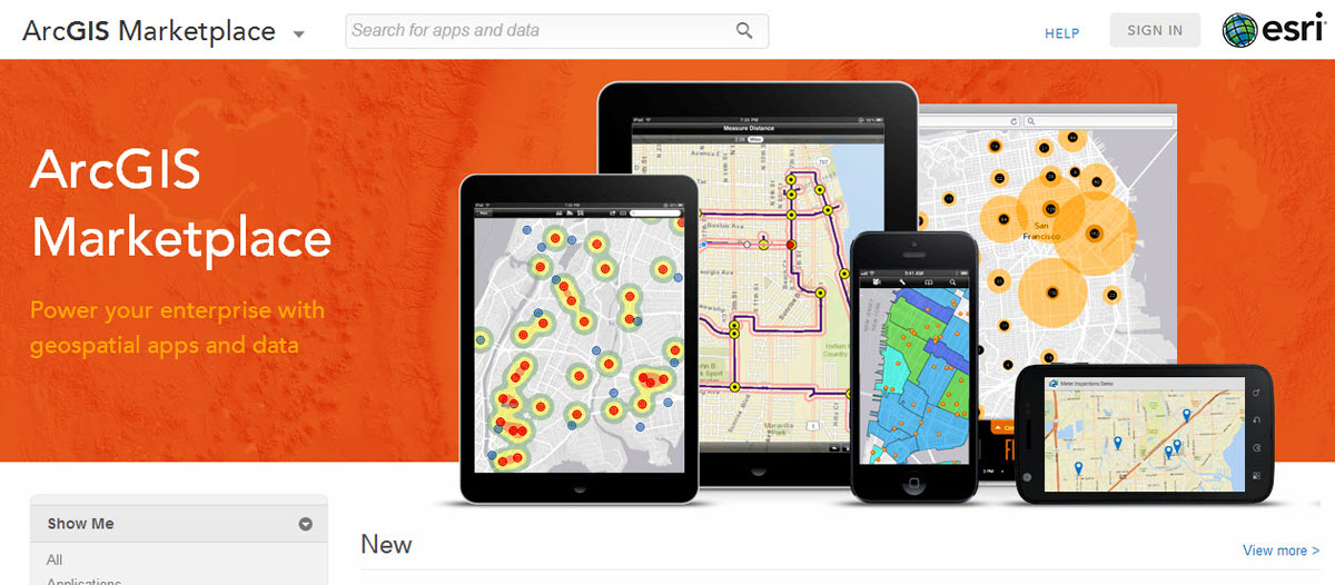 ArcGIS Marketplace allows ArcGIS Online subscribers to search, discover, and get apps and data from qualified providers for use within their organization.