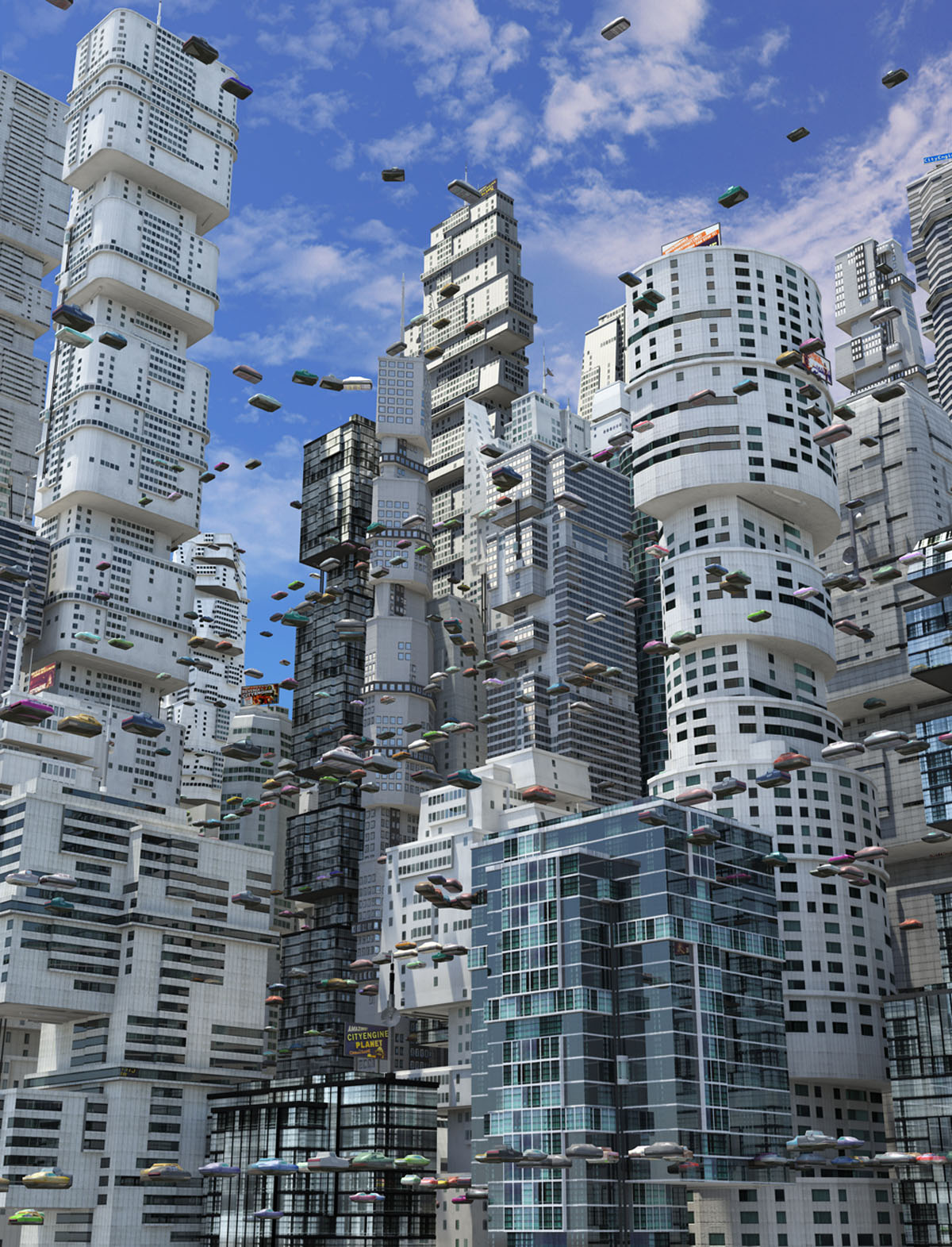 Create realistic-and futuristic-cityscapes with CityEngine 2013.