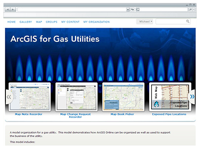 ArcGIS Online for Gas