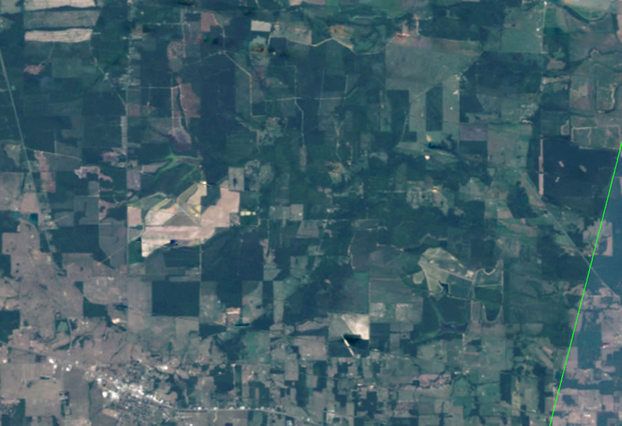 how to fix striping in landsat images with arcmap