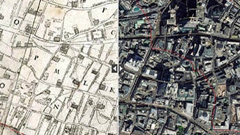 The 1666 Great Fire of London: then and now demo