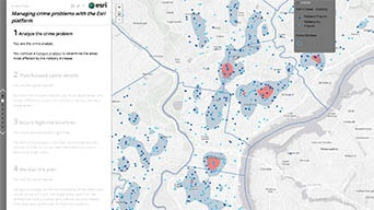 Managing crime problems with the Esri platform demo