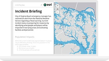 Incident briefing map using a preparedness app