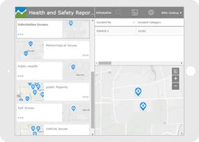 Health and safety report using a recovery app