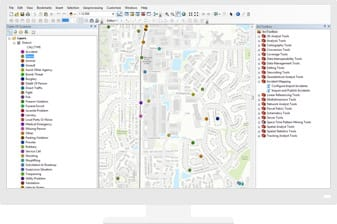 Incident map using GIS app