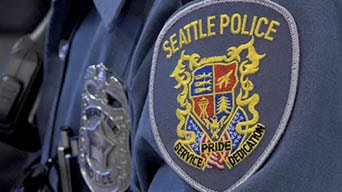 Seattle Police officer's badge and patch