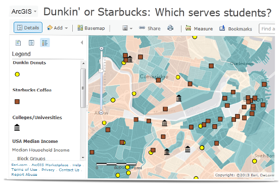 Dunkin or Starbucks: which serves students?