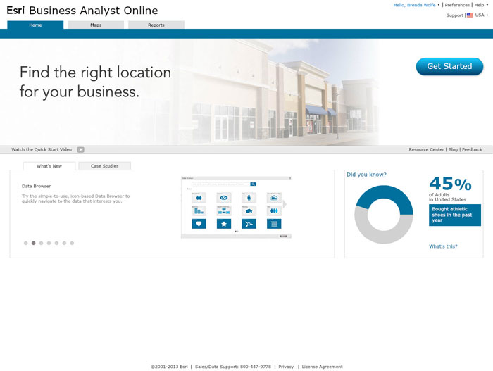 Business Analyst Online site screen image