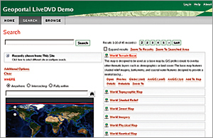 The Esri Geoportal Server LiveDVD Demo 2013 runs on a fully functional openSUSE Linux operating system.
