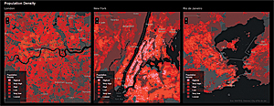 Small area boundaries allow meaningful comparisons of population density from city to city.