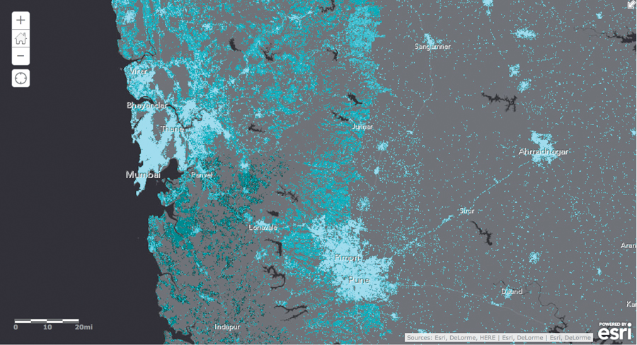 Most Detailed World Map.Arcnews Esri S New Population Map Is The Most Detailed In The World