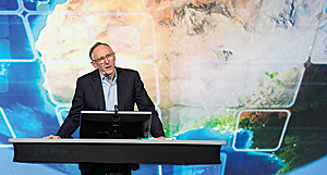 Esri president Jack Dangermond called on attendees at the Esri User Conference to address the complex challenges facing our world by using GIS as a medium to make this complexity more understandable.