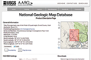 USGS National Geologic Mapping Database