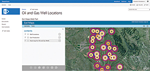 Esri Maps for SharePoint makes ArcGIS functionality available from Microsoft SharePoint.