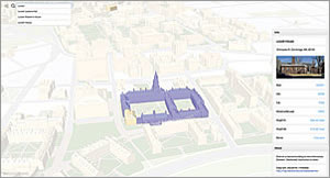 Harvard University's 3D campus maps are shared online using CloudCities, an online 3D web sharing service from SmarterBetterCities built on top of ArcGIS technology.