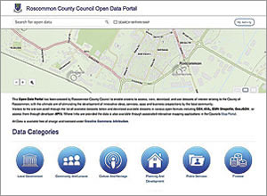 Roscommon County Council Open Data Portal, powered by ArcGIS Online, helps people and organizations support local businesses and sustain community groups.