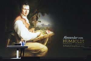 Alexander von Humboldt foreshadowed what we know today as GIS, according to keynote speaker Andrea Wulf.