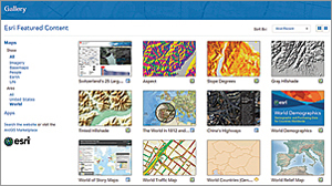 Now there is an easy and fast way for you to view your favorites and find featured content from your organization and Esri in the Gallery.