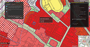 Web mapping application shows the City of Jihlava development plan in an interactive form.