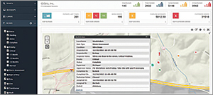 Operation dashboard web application used for tracking the status of field applications in office.