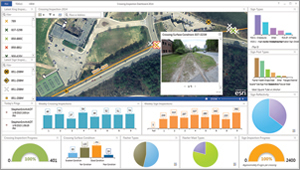 Picture pop-ups let the office team see what the field inspector sees in near real time. Using Operations Dashboard for ArcGIS via ArcGIS Online, Smith could monitor Wiener's progress in real time.