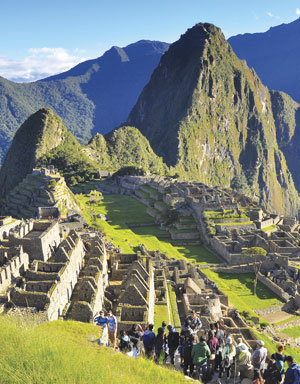 Machu Picchu in Peru attracts hundreds of thousands of visitors each year.