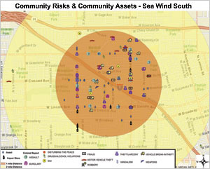 Sea Wind South, the control group that received no services, had 146 crimes reported during the study time frame. Both Sea Wind South and Warwick Square have higher crime rates than middle- to upper-class socioeconomic communities in Southern California.