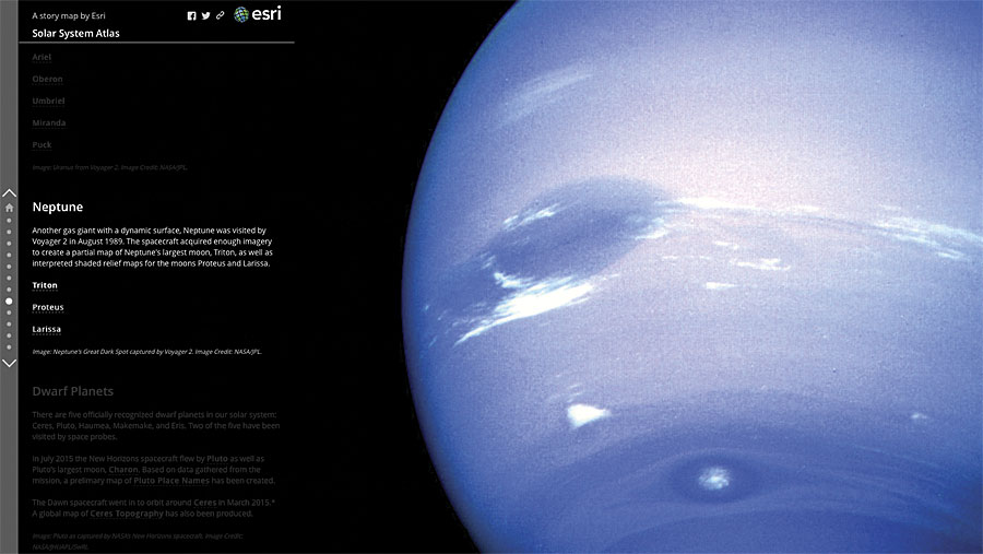 Visit Distant Worlds with the Solar System Atlas | ArcNews