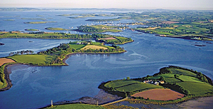 Between the contrasting north and south shores of Strangford Lough lie numerous paddies and about 70 islands, some smooth and rounded, others craggy rocks. (Photo courtesy of SLLP.)