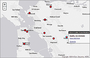 The WorkHands platform provides search results for open positions in the San Francisco Bay Area in California.