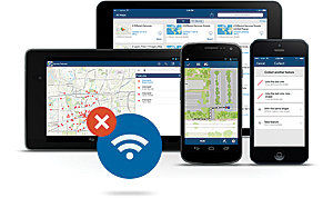 Use the Collector app offline to collect and edit maps and data, regardless of your network availability.