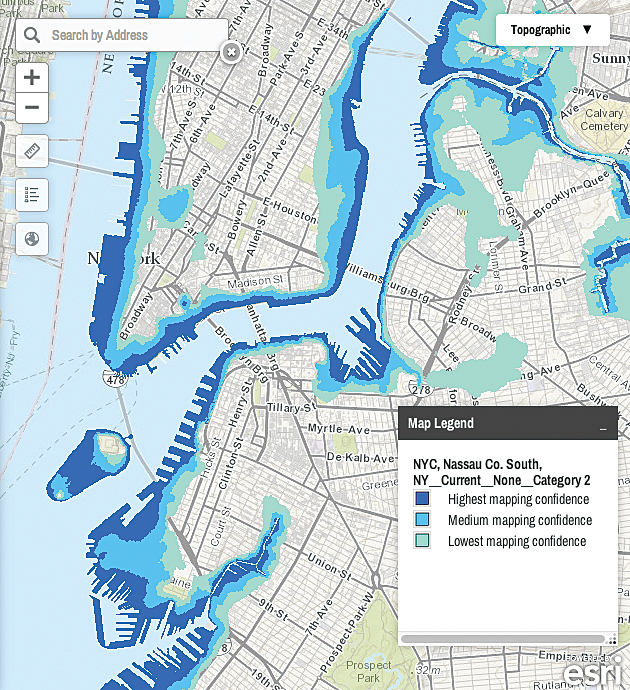 Web Map Of New York And Connecticut Maps Coastalresilience Org Nyct