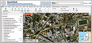 GeoMOLG, pictured here, is a straightforward web mapping application that has helped Palestine's Ministry of Local Government collect data about land use and management and connect data with other government departments, nongovernmental organizations, and academic institutions.