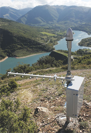 Esri Italia deployed four SENDAS sensors around Lake Fiastra during its collaboration with Italy's National Institute of Geophysics and Volcanology.