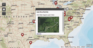 American Electric Power created an interactive map of its certified sites by using the WordPress plug-in for ArcGIS Online.