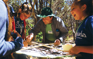 At a BioBlitz, scientists, families, students, teachers, and other community members work together to get an overall count of the plants, animals, fungi, and other organisms that live in a place. (Photo by Eric Leifer, National Geographic.)