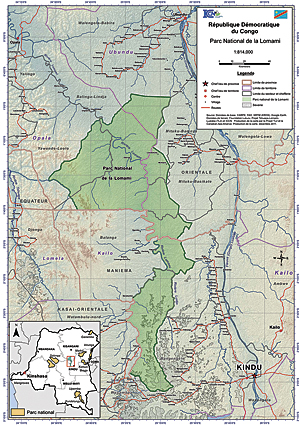 Proposed Lomami National Park, Democratic Republic of Congo.