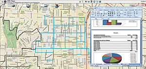 Users locate areas of need and access demographic data within the mapping environment.