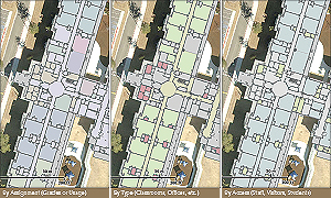 "Thematic mapping allows the user to ""see"" rooms in different ways."