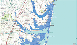 The FEMA SLOSH model helped Amica identify areas that were likely inundated by storm surge flooding.