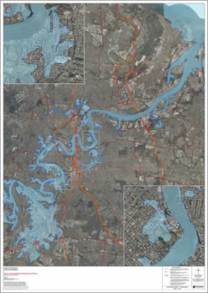 An important record of the 2011 flood event was created from imagery and observations of flood peaks on the ground.