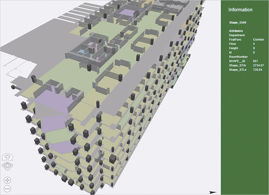 Using The Arcgis Platform To Visualize Facility Information on 2d Floor Plans Office Building