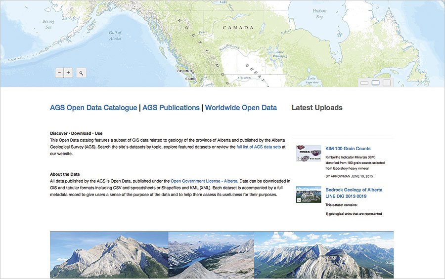 Organizations worldwide use arcgis to share data arcnews alberta geological survey gumiabroncs Images