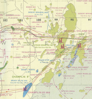 The Wyoming State Geological Survey has published maps of Wyoming's oil and gas field locations since 1972. This one is from 1984.