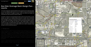 Ferber Engineering Company put together story maps to help staff at the City of Rapid City easily access the findings and recommendations from the Box Elder Drainage Basin Design Plan.