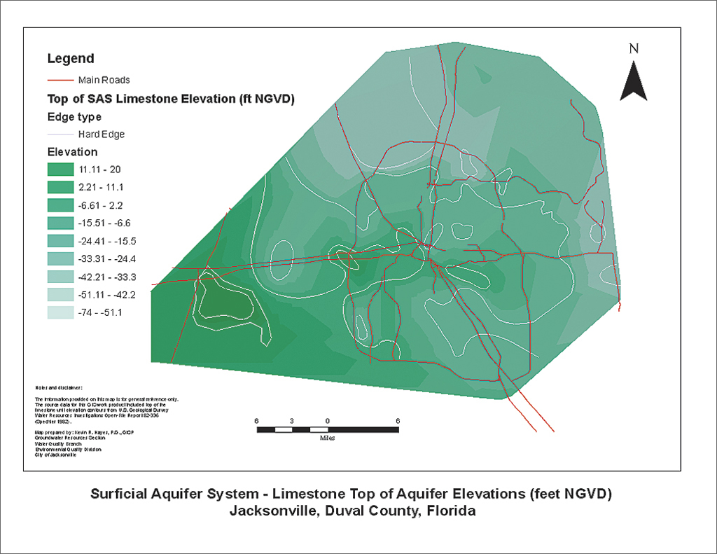 Limestone Elevation : From paper maps to accessible gis data