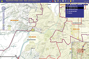 The application incorporates agency and legislative district boundary information.