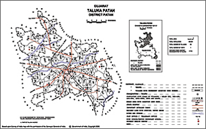One of the tehsil maps used to geocode village locations