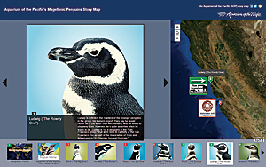 The Aquarium of the Pacific has effectively used story maps, like this one on its penguins, to engage the public.